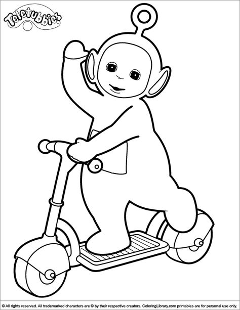 teletubbies coloring page - Teletubbies Dipsy Coloring Pages