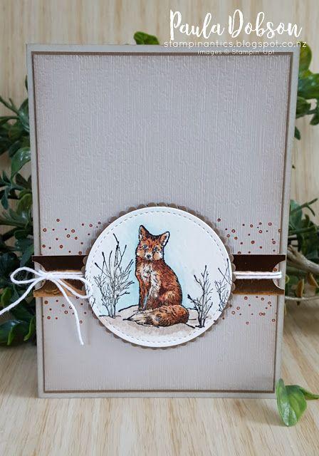 Fox Card Foxy Man  Square Greeting Card