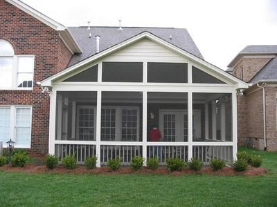Screen Porch with open gable end | Outdoor Areas | Pinterest ...