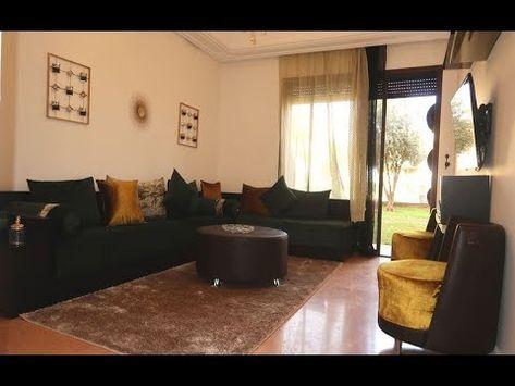 Dun Joli Appartement Meuble 70 M Au Rez De Jardin 1 Chambre Avec Placards Sdb Douche Salons Avec Grande Terrasse Et Jardin Home Home Decor Marrakech