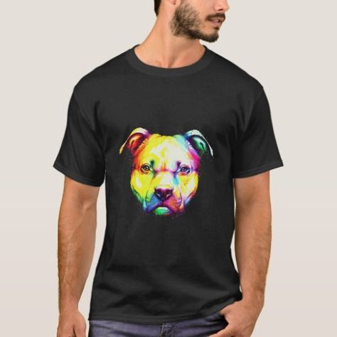 Colorful pit bull Face T-Shirt christmas cookies, meaningful christmas gifts, dui christmas gifts #christmasgiftsets #blackdiamondpigments #fluidart, back to school, aesthetic wallpaper, y2k fashion