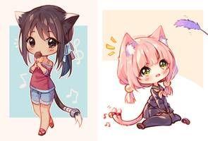 Video Commission Rainbow Dance By Hyanna Natsu On Deviantart Chibi Drawings Anime Chibi Chibi Cat