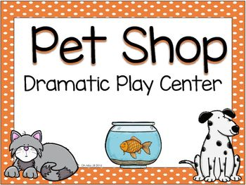 Pet Shop And Pet Grooming Dramatic Play Set Pet Shop Dramatic Play Preschool Pets Preschool