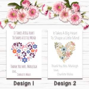A4 Prints /& Framed Personalised Family Heart Print A5