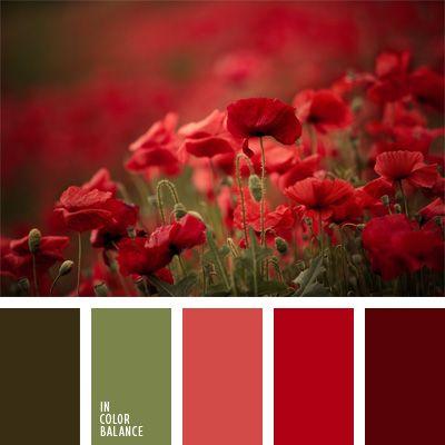 2016, carmín alizarina, color burdeos, color rojo amapola, color rojo vino…