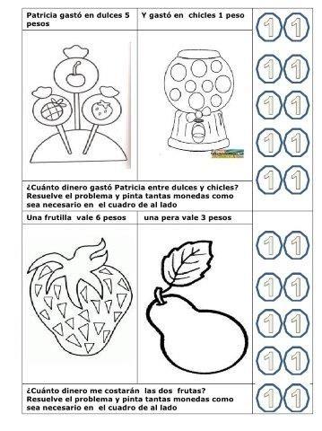 34 Ejercicios De Monedas Y Billetes Educaciín Preescolar Alum Problemas De Sumas Juegos De Matemáticas Preescolares Problemas Matematicos De Multiplicacion