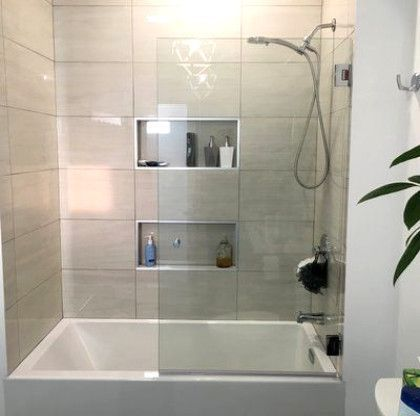 32 X 58 Hinged Frameless Shower Door In 2020 With Images