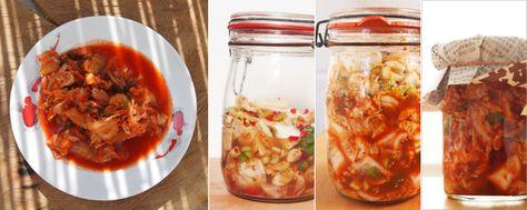 Als ich ein Herzstück der koreanischen Küche, Kimchi, das erste Mal mit den Stäbchen in …