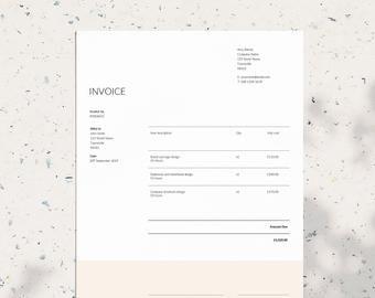 Invoice Template 05 Receipt Template Invoice Template For Etsy Invoice Template Receipt Template Printable Invoice