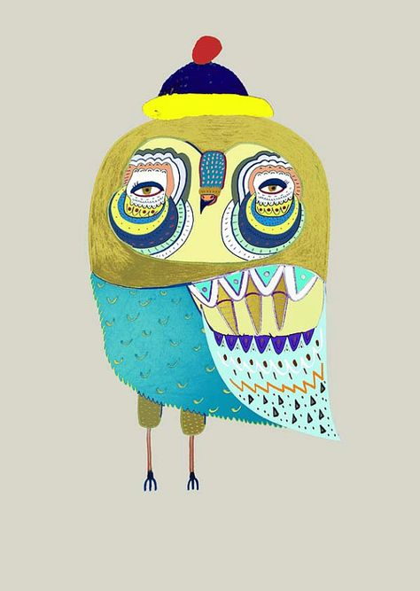 'Owl Dude' by Ashley Percival