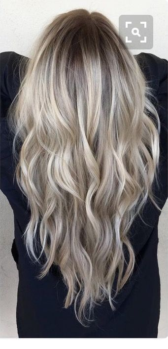 Cool Ash Blonde Balayage Shades Silver Shoulder Length Straight Beige Sandy Icy Hair Styles Ash Blonde Balayage Ice Blonde Hair