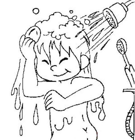 Banyo Yapma Boyama Sayfasi Banyo Yapma Boyama Sayfalari Faaliyetler