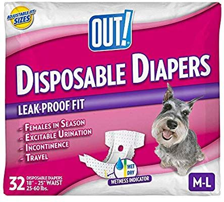 Amazon Com Out Disposable Female Dog Diapers Absorbent Female Dog Diapers With Leak Protection Female Female Dog Diapers Dog Diapers Female Dog In Heat