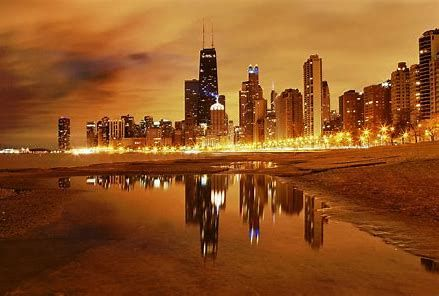 Image Result For High Resolution 4k Chicago Winter Chicago Wallpaper Chicago At Night Beach At Night