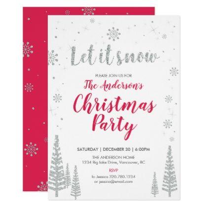 Holiday Christmas Party Invitation Card Zazzle Com