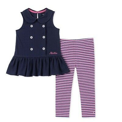 INFANT//TODDLER GIRLS 2PC  FLORAL TOP WITH TULLE ACCENTING /& LEGGINGS OUTFIT NWT