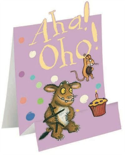Aha Oho Have A Fun Birthday The Gruffalo Birthday Card From