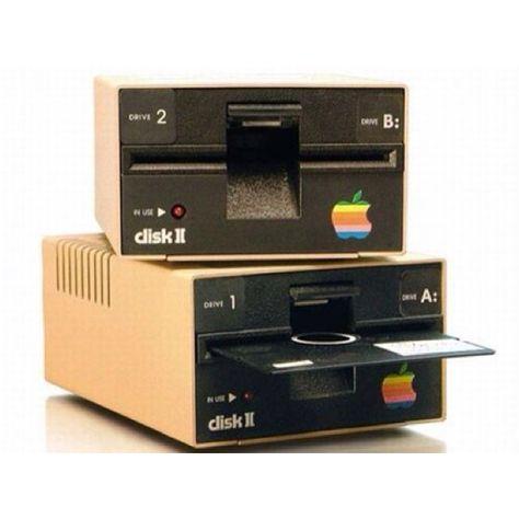 Floppy disk... ha ha I remember thinking floppy discs were amazing lol