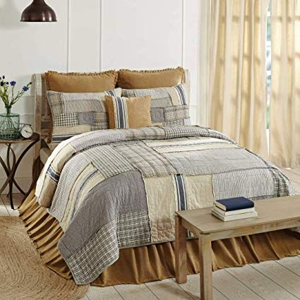Piper Classics Mill Creek Luxury King Quilt 120 X 105 Oversized Modern Farmhouse Style Bedding Country Patchwork Quil Farmhouse Style Bedding King Quilt Home