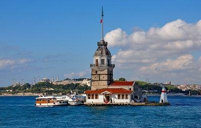 برج الفتاة في اسطنبول تركيا Ferry Building San Francisco Istanbul Landmarks