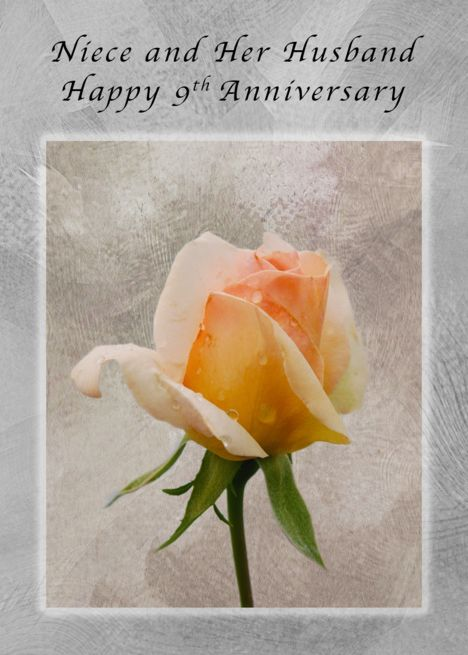 Happy 9th Anniversary For Niece And Her Husband Fresh Rose Card Ad Ad Niece Anni Happy 54th Anniversary Happy 21st Anniversary Happy 49th Anniversary