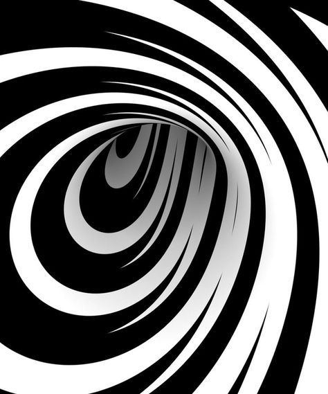 Abstract black and white spiral Self-Adhesive Wall Mural • Pixers® - We live to change