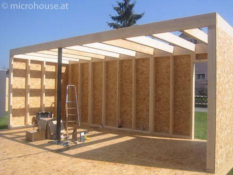 garage ossature bois toit plat epdm gtutzu pinterest car ports construction and pergolas - Plan Garage Ossature Bois Toit Plat