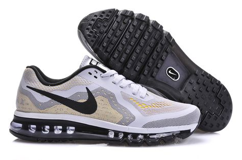 reputable site 03841 ec9f7 Mens Nike Air Max 2014 White Grey Black Shoes  White  Womens  Sneakers