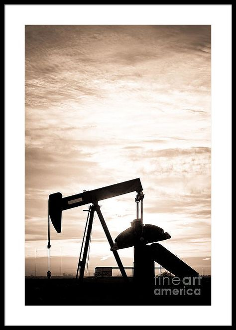 Rustic Oil Well Pump Vertical Sepia Framed Print By James Bo Insogna Smallbusiness Small Artwork Artgallery Fineart Fineartamerica Insognagallery