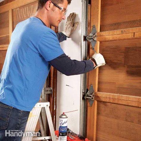 How To Fix A Noisy Garage Door Garage Door Maintenance Garage Door Repair Garage Door Rollers