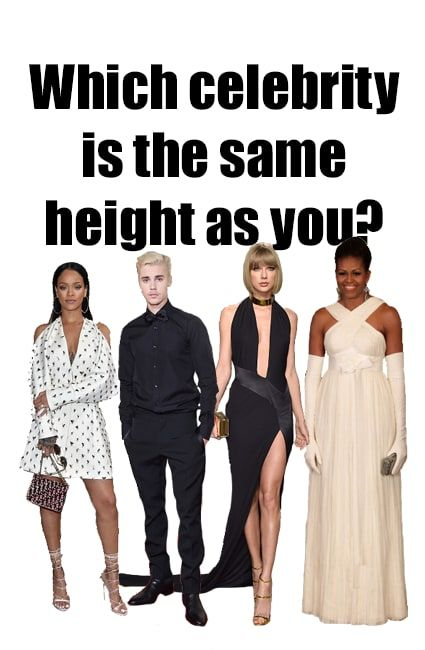 Which Celebrity Do You Share Your Height With Celebrities Height Clothes