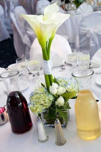 calla lily centerpiece - possibly a few of these for bridal table ...