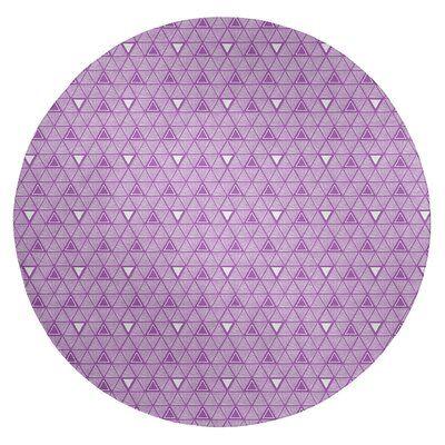 East Urban Home Hand Drawn Triangles Light Pink Area Rug Purple Area Rugs Light Blue Area Rug Beige Area Rugs
