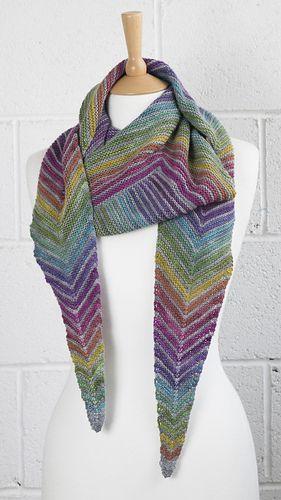Square Off Rainbow Shawl pattern by Joy McMillan | knitting