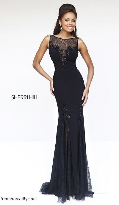 d3ad041bcd Sherri Hill 4312 Deep V Back Illusion Gown image  450