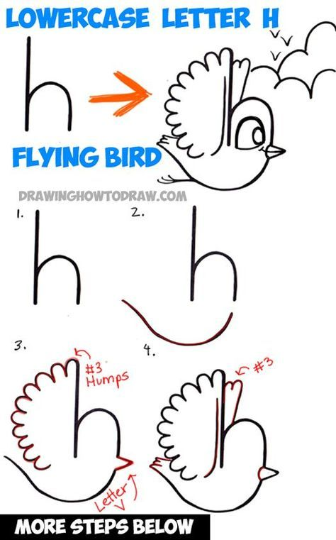 How To Draw A Bird Flying Easy : flying, Flying, Cartoon, Lowercase, Letter, Shape, Tutorial, Drawing, Tutorials, Alphabet, Drawing,, Drawings,