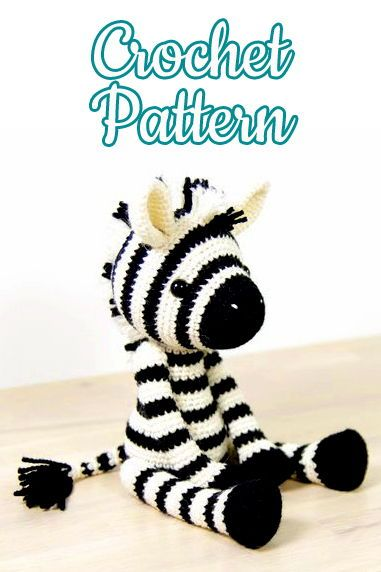 Zebra - Julio Toys | Crochet patterns | Amigurumi | 572x381