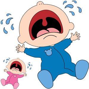 Crying Baby Baby Cartoon Drawing Baby Boy Scrapbook Layouts Baby Drawing