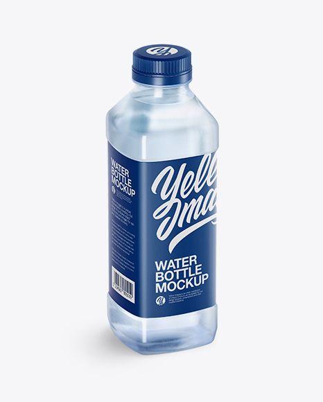 Download Blue Pet Water Bottle Mockup Half Side View High Angle Shot In Bottle Mockups On Yellow Images Object Mockups Bottle Mockup Mockup Free Psd Bottle