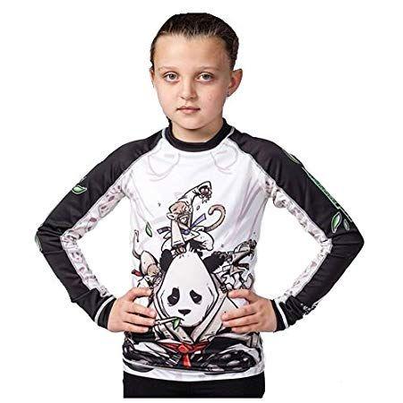 Tatami x Meerkatsu Kids Whizzer Of Oz BJJ Rash Guard Childrens Jiu Jitsu Top MMA