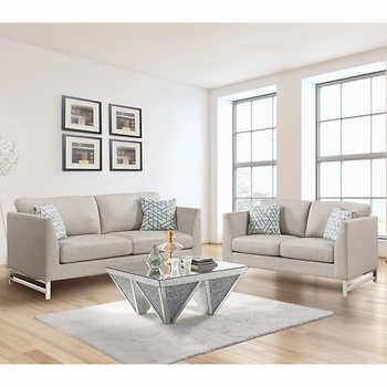 Shelburne Beige Fabric Sofa And Loveseat Costco Beige Fabric Sofa Fabric Sofa Love Seat