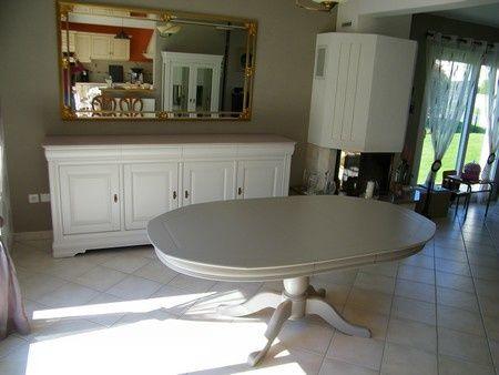 Meubles salle à manger merisier peints gris clair à Meauffe ...