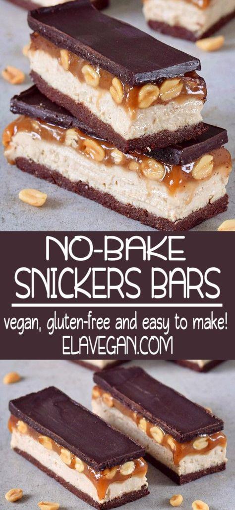 Vegan Snickers Bars-Vegan Snickers Bars   -#bars #Snickers #vegan