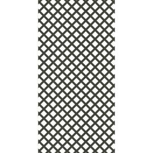 4 Ft X 8 Ft Black Garden Vinyl Lattice 189723 The Home Depot In 2020 Black Garden Decorative Screens Plastic Lattice