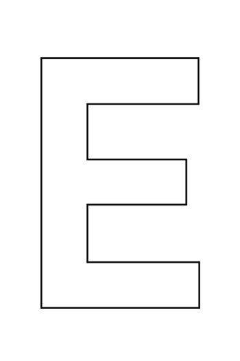 Printable Letter E Template For Crafts Preschool