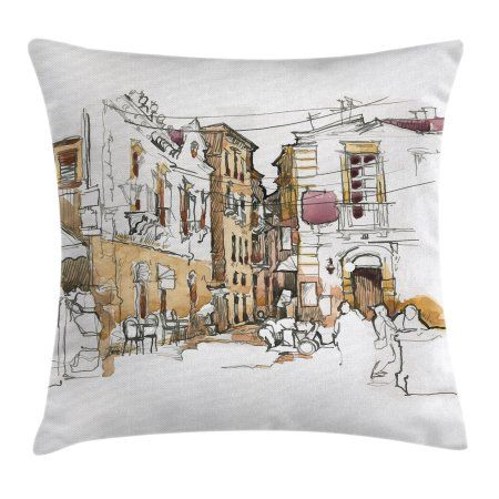 Modern Decor Throw Pillow Cushion Cover Painting Artistic Sketchy