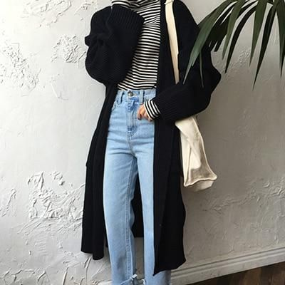 Winter Dress Fashion New Winter Clothes Latest Warm Clothes Long Oversized Sweaters Korean Fashion Trends Korean Fashion