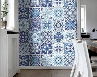 Traditional Spanish Tiles Stickers Tiles Decals Tiles For Etsy Tile Decals Blue Tiles Portuguese Tiles
