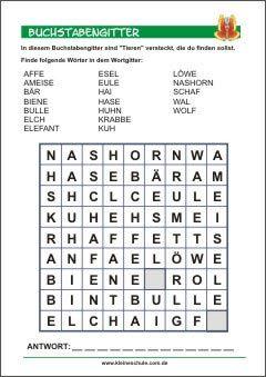 Buchstabengitter Fur Kinder Buchstabenratsel Abc Lernen Grundschule