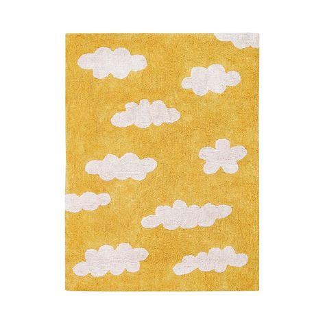 Kinderteppich Wolken Clouds Mustard Senfgelb 120 X 160